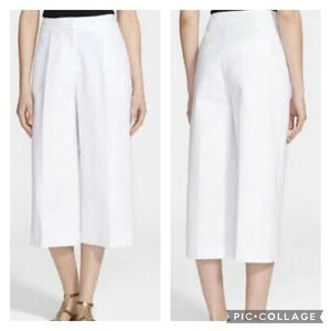 00/XXS New KATE SPADE White Structured Culottes